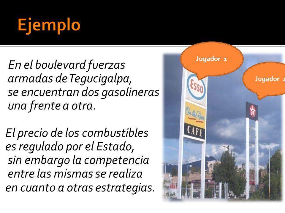 En el boulevard fuerzas armadas de Tegucigalpa, se encuentran dos gasolineras una frente a otra.