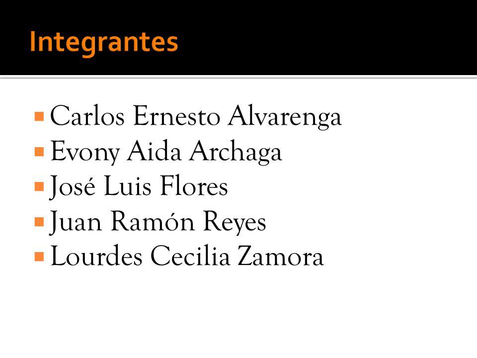 Carlos Ernesto Alvarenga Evony Aida Archaga José Luis Flores Juan Ramón Reyes Lourdes Cecilia Zamora