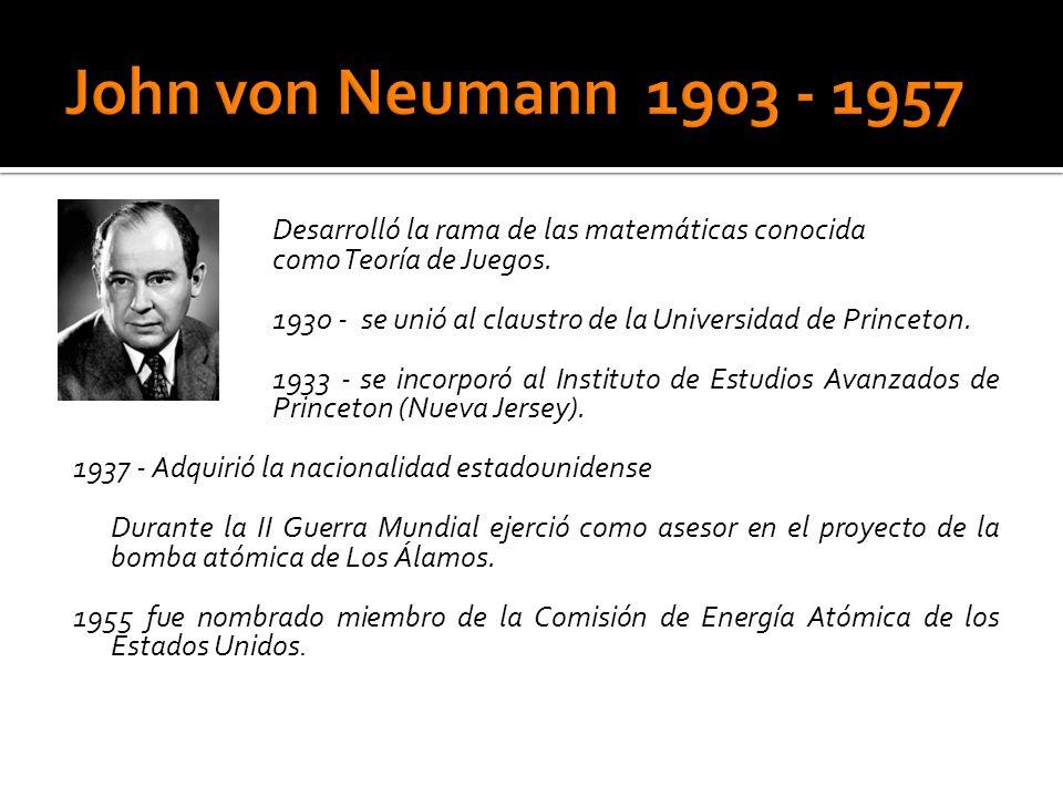 DDesarrolló la rama de las matemáticas conocida como Teoría de Juegos.