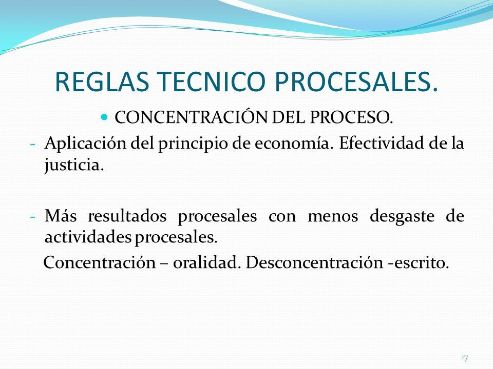 REGLA TECNICA DE LA INMEDIACIÓN.ARTICULO 52.