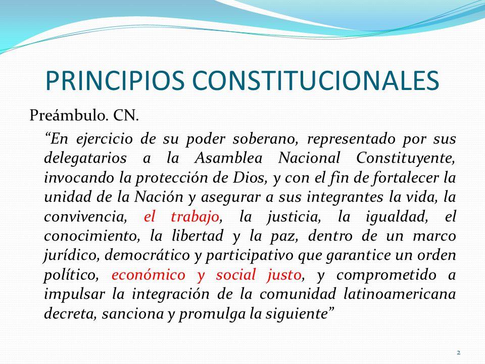 PRINCIPIOS CONSTITUCIONALES Preámbulo.CN.