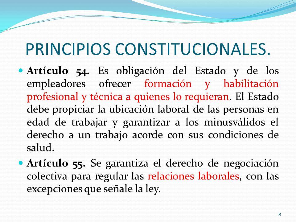 PRINCIPIOS CONSTITUCIONALES.Artículo 54.
