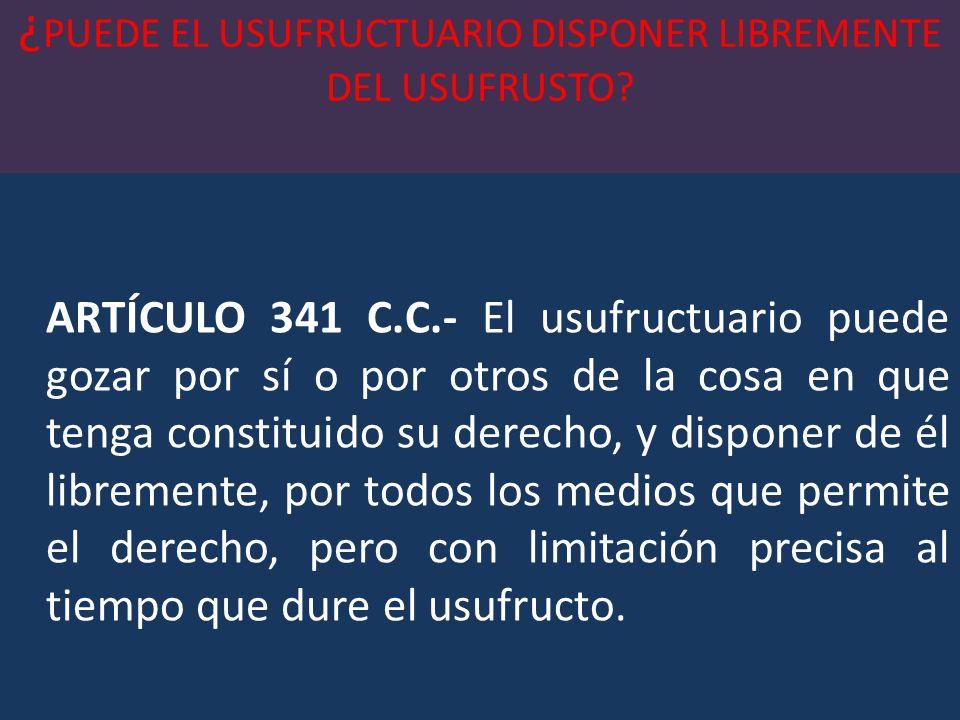 ¿PORQUE CONCLUYE EL DERECHO DE USUFRUCTO.