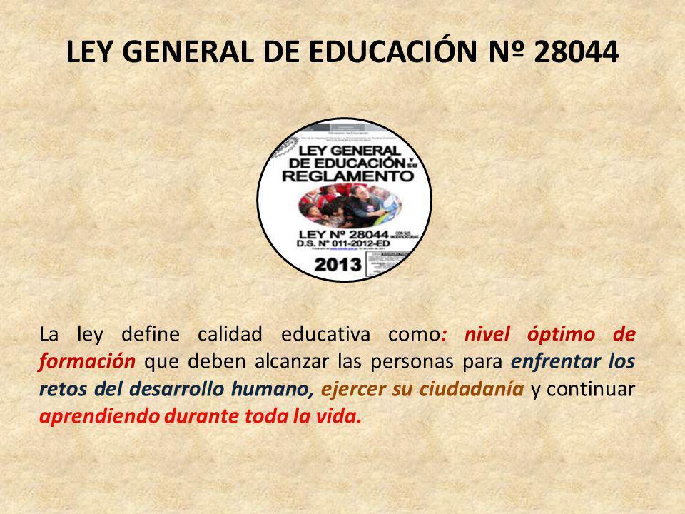 PROYECTO EDUCATIVO NACIONAL (PEN) Objetivo Estratégico 1: El logro de oportunidades y de resultados de calidad en educación básica para todos es medio para conseguir la equidad educativa, rompiendo brechas existentes en la sociedad.