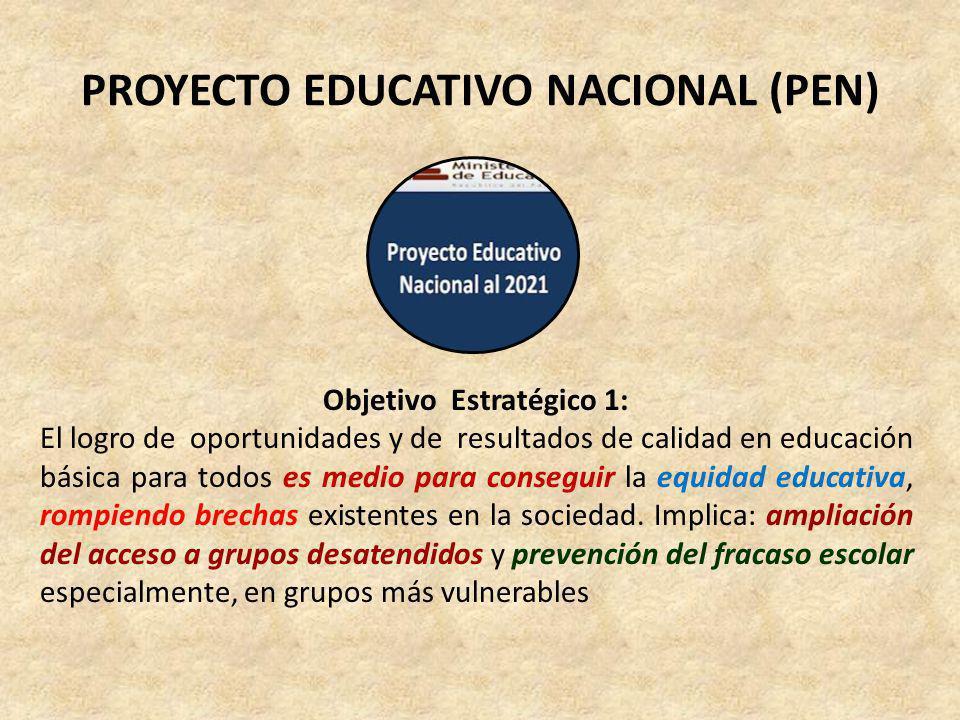 PLAN ESTRATÉGICO SECTORIAL MULTIANUAL (PESEM) 1.Logro de aprendizajes de calidad para todos los estudiantes, en cuatro áreas curriculares.