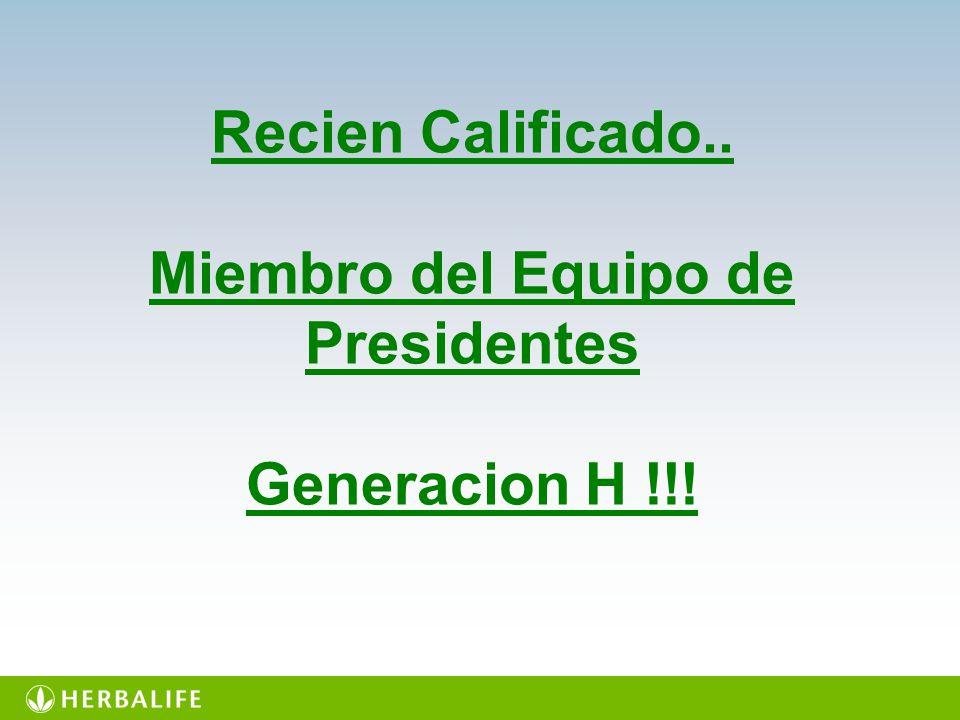 LUIS DANIEL RODRIGUEZ Miembro del Equipo de Presidente Generacion H