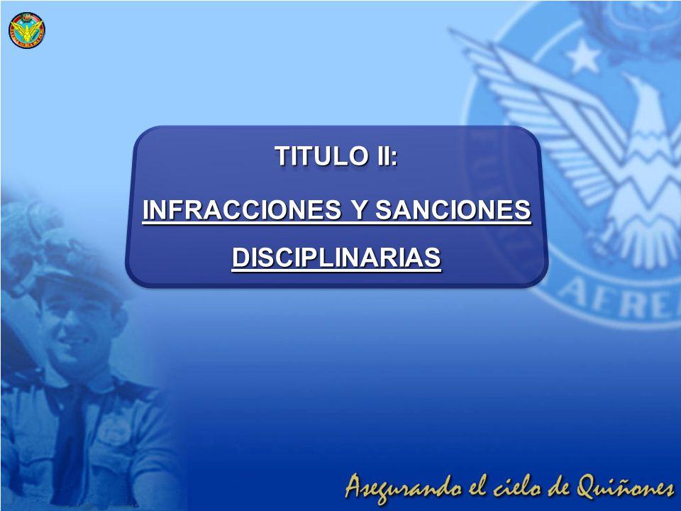 TITULO II: INFRACCIONES Y SANCIONES DISCIPLINARIAS TITULO II: INFRACCIONES Y SANCIONES DISCIPLINARIAS