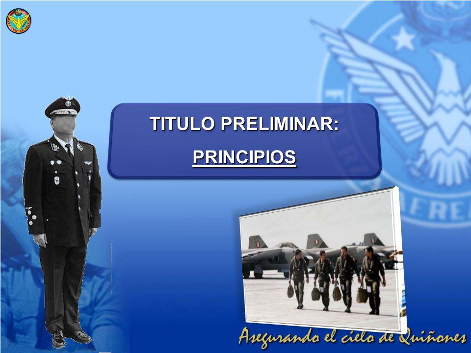 TITULO PRELIMINAR: PRINCIPIOS PRINCIPIOS