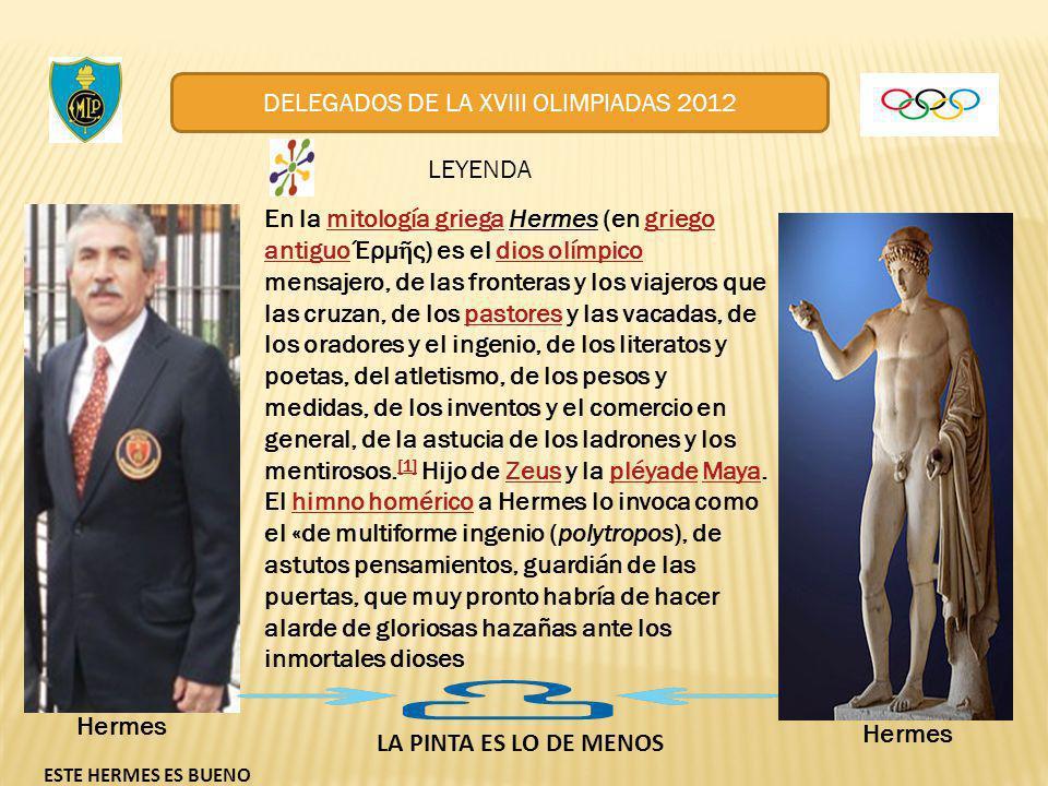 EN LAS PROXIMAS OLIMPIADAS TENDREMOS LA DISCIPLINA DE LOS GLOTONES Y CHUPONES DELEGADOS DE LA XVIII OLIMPIADAS 2012 VEA EL SIGUIENTE SLIDE
