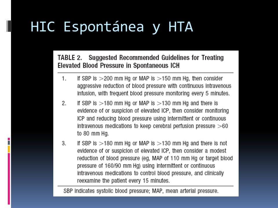 HIC Espontánea y HTA