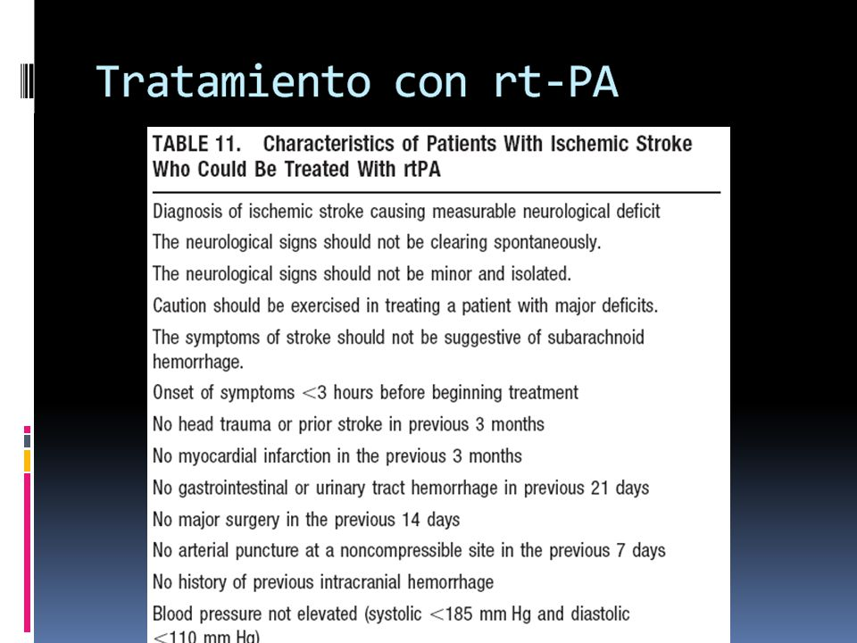 Tratamiento con rt-PA