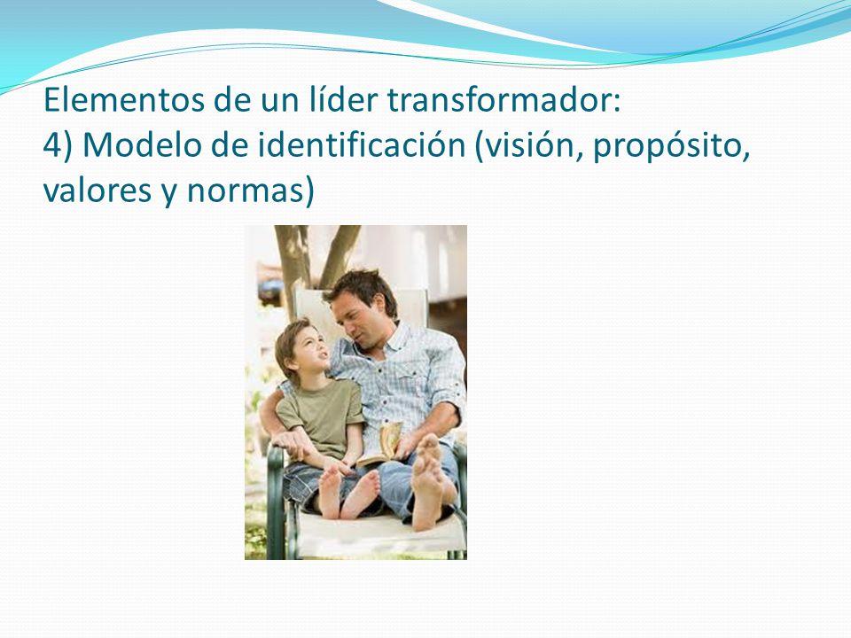 Elementos de un líder transformador: 4) Modelo de identificación (visión, propósito, valores y normas)