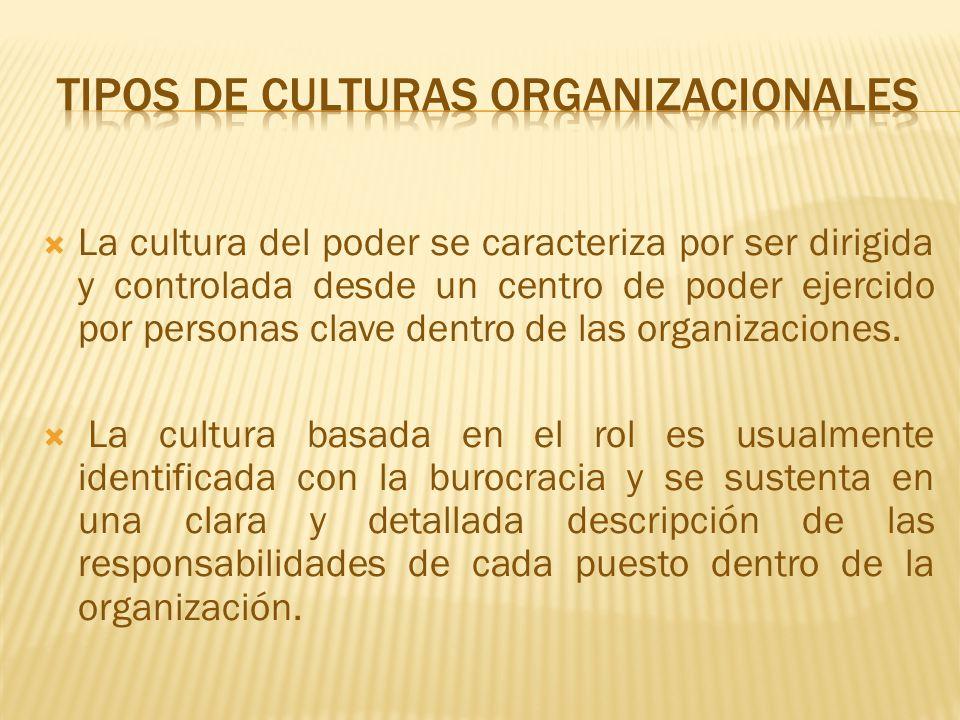 Cultura fuerte en la que los valores centrales son sostenidos con firmeza y son ampliamente compartidos.