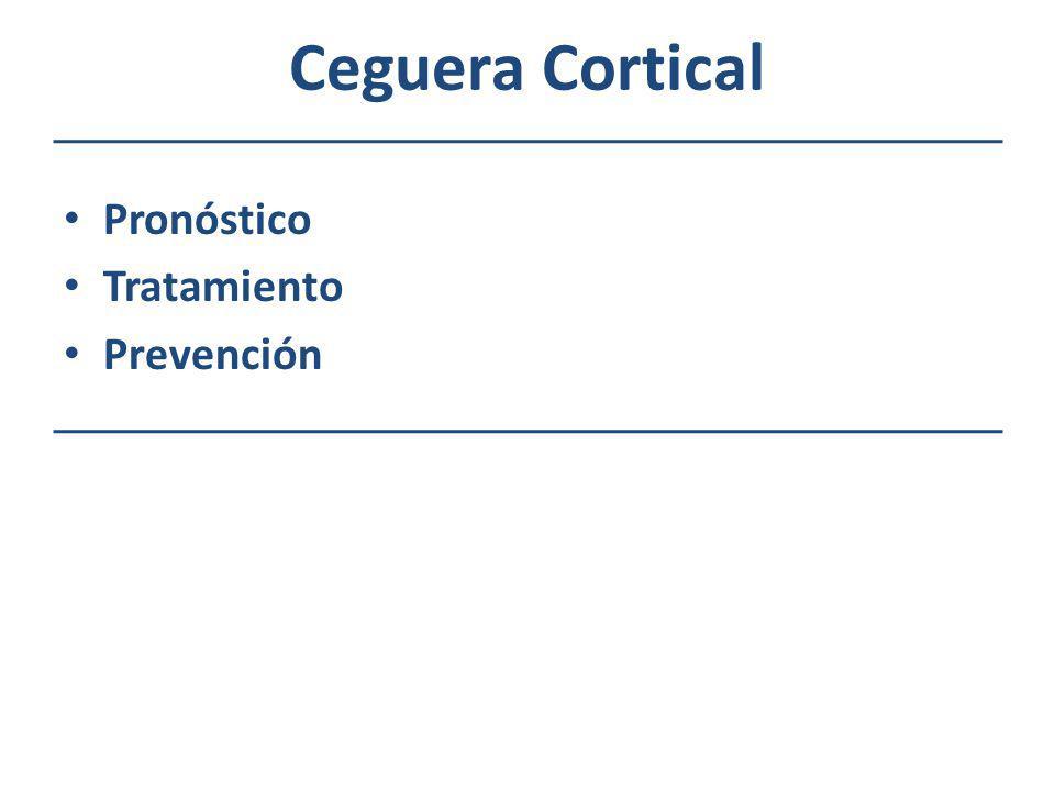 Ceguera Cortical Pronóstico Tratamiento Prevención