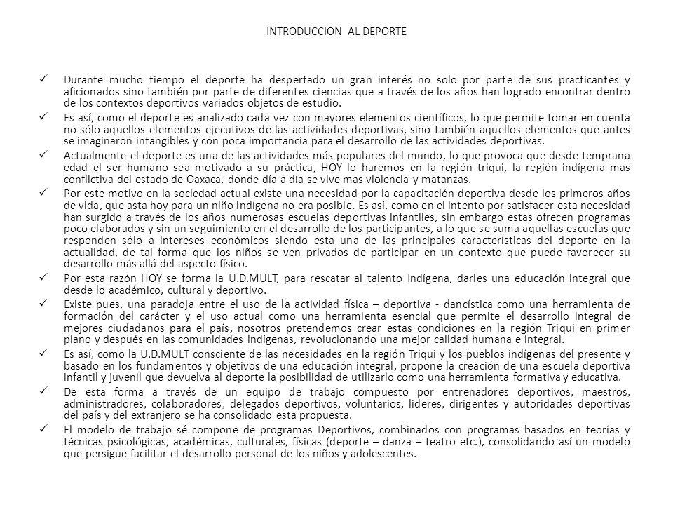 Conclusiones La propuesta de la U.D.MULT.