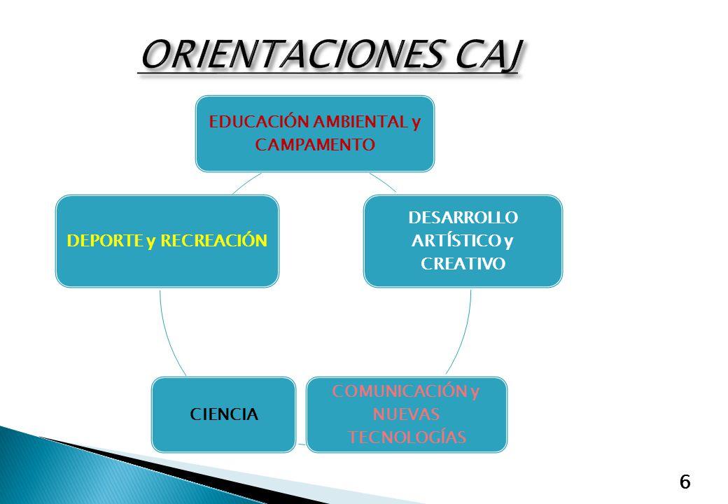 6 EDUCACIÓN AMBIENTAL y CAMPAMENTO DESARROLLO ARTÍSTICO y CREATIVO COMUNICACIÓN y NUEVAS TECNOLOGÍAS CIENCIA DEPORTE y RECREACIÓN
