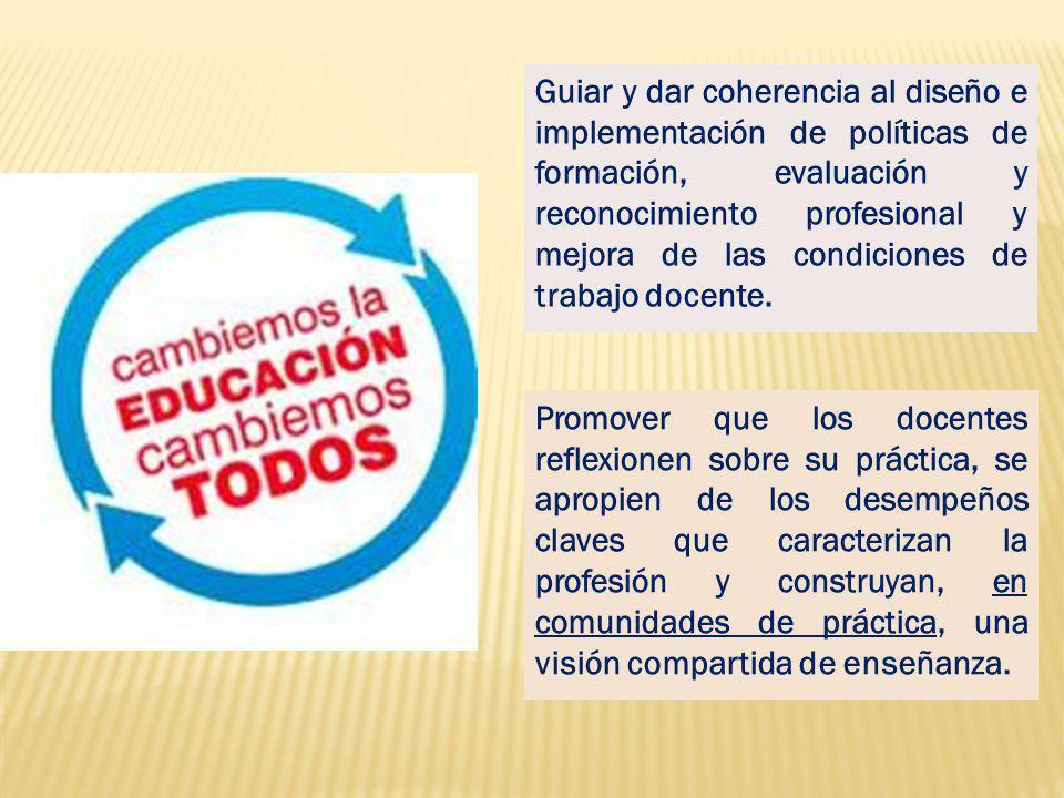 4 dominios Ámbitos de acción docente 9 competencias Recursos que el sujeto actualiza según contexto y finalidad, con eficacia e idoneidad.