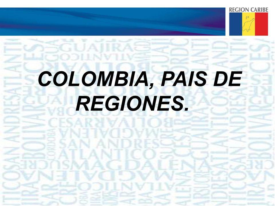 COLOMBIA, PAIS DE REGIONES.
