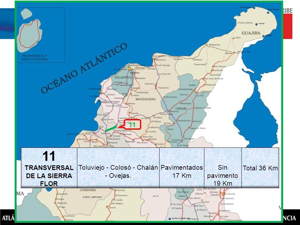 BARRANCABERMEJA SIMITÍ NOROSÍ BARRANCO DE LOBA PUERTO LIBERTADOR VALENCIA SAN PEDRO AYAPEL Puerto Estrella Nazaret Castillete Punta Gallinas 11