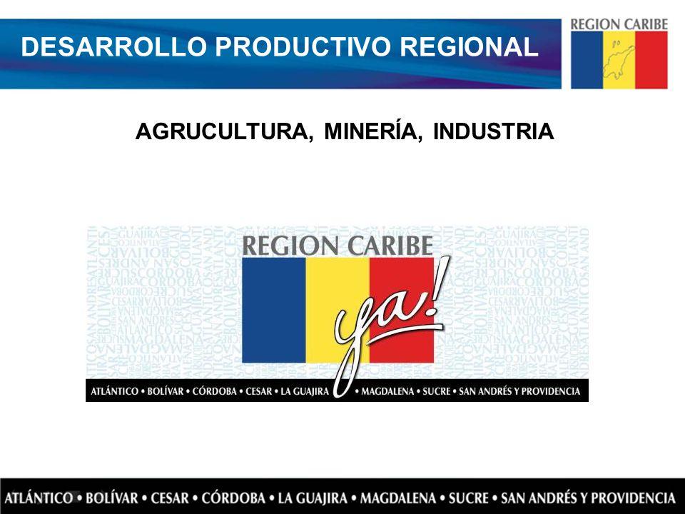AGRUCULTURA, MINERÍA, INDUSTRIA DESARROLLO PRODUCTIVO REGIONAL