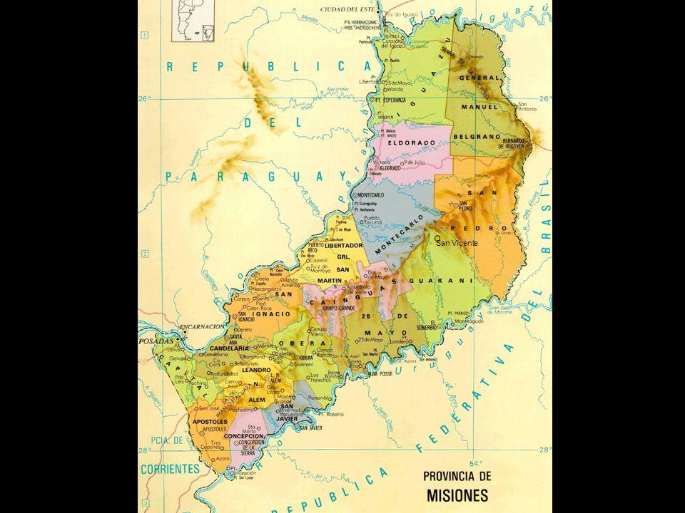 Misiones es la segunda provincia más pequeña después de Tucumán representando, en superficie, 0.8% del total del país.