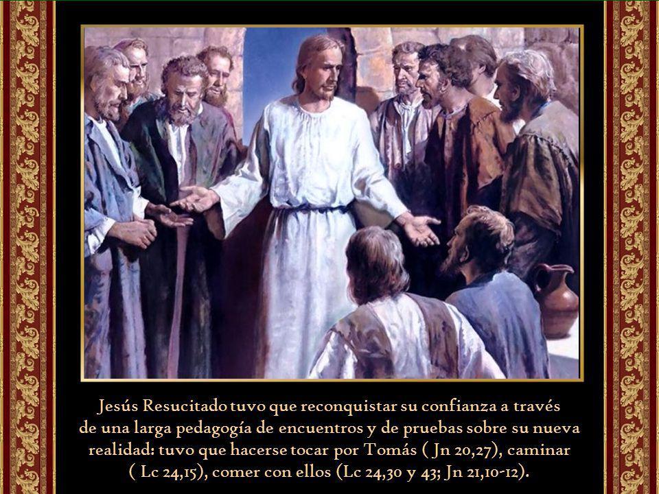 Tan imposible les parece el más grande milagro de Cristo, su propia Resurrección, que incluso al verlo resucitado, todavía dudan (Lc 24, 38), creen ver un espíritu (Lc 24, 39).