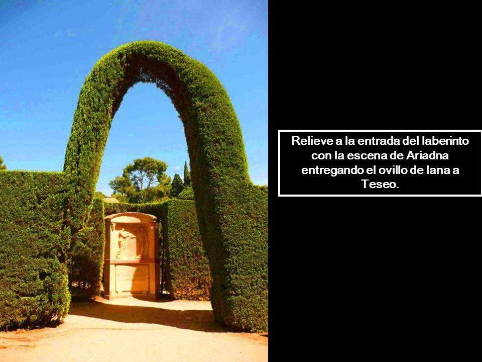 El laberinto es el alma del jardín neoclásico, representa un ejemplo único de arquitectura paisajista. Vista aérea