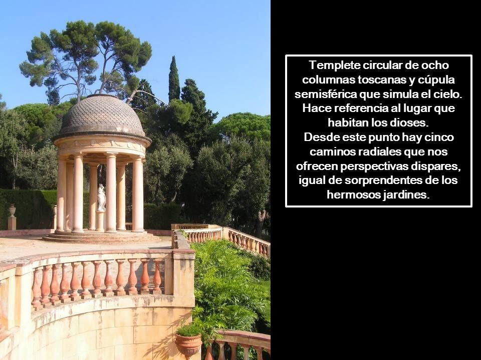 Los templetes de la terraza intermedia fueron escogidos por Joan Maragall para realizar representaciones de teatro clásico. El 10 de Octubre de 1898 s