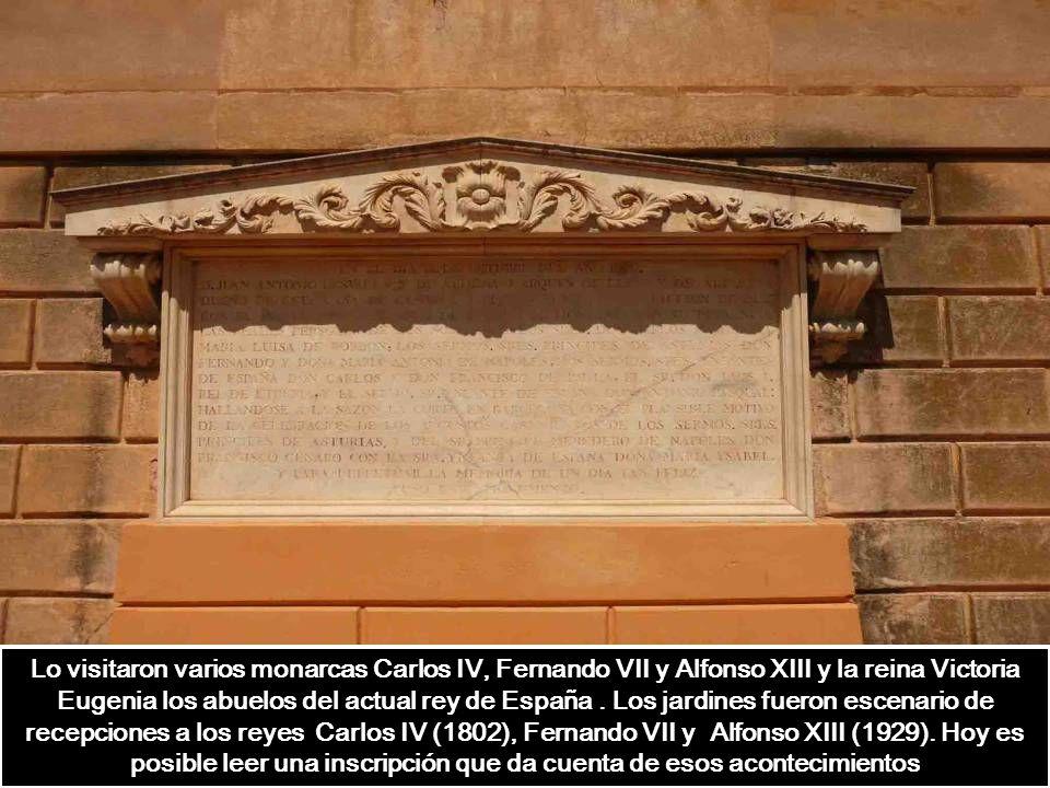 Lo visitaron varios monarcas Carlos IV, Fernando VII y Alfonso XIII y la reina Victoria Eugenia los abuelos del actual rey de España.