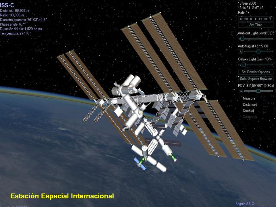 El Telescopio espacial Hubble es un telescopio robótico localizado en los bordes exteriores de la atmósfera, en órbita circular alrededor de la Tierra a 593 km sobre el nivel del mar, con un período orbital entre 96 y 97 min.
