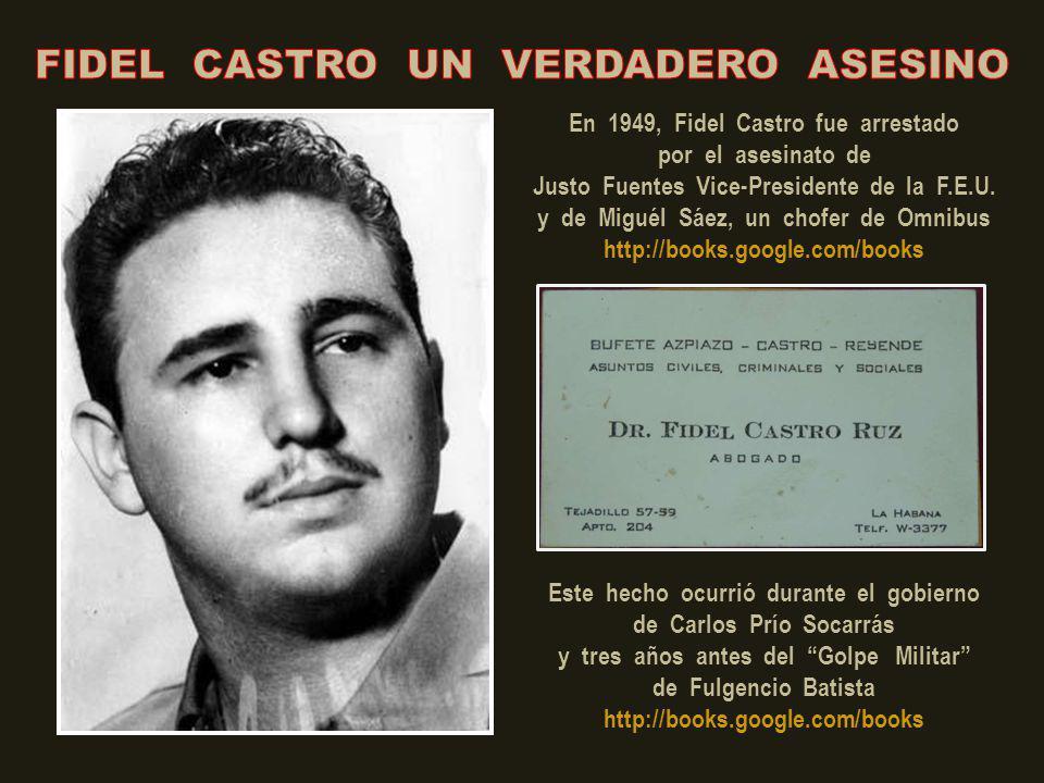 En 1948, Fidel Castro (el primero de la izquierda) asesinó a Oscar Fernández Caral, sargento de la policía universitaria. Aquí lo vemos con otros estu