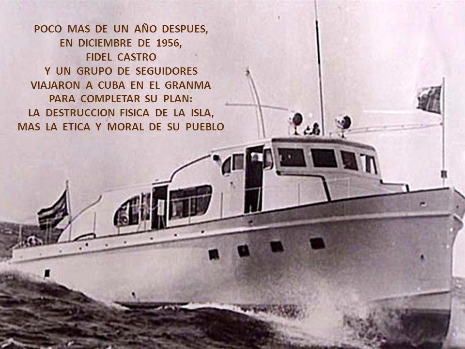 DOS AÑOS DESPUES DEL CUARTELAZO DE BATISTA, CONTINUABA LA CORRUPCION POLITICO-SOCIAL EN CUBA Y LOS ASESINOS DEL MONCADA FUERON LIBERADOS RESULTA CURIO