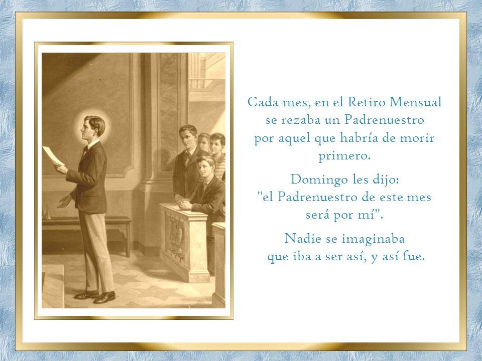 San Juan Bosco era el santo de la alegría. Nadie lo veía triste jamás, aunque su salud era deficiente y sus problemas enormes. Pero un día los alumnos