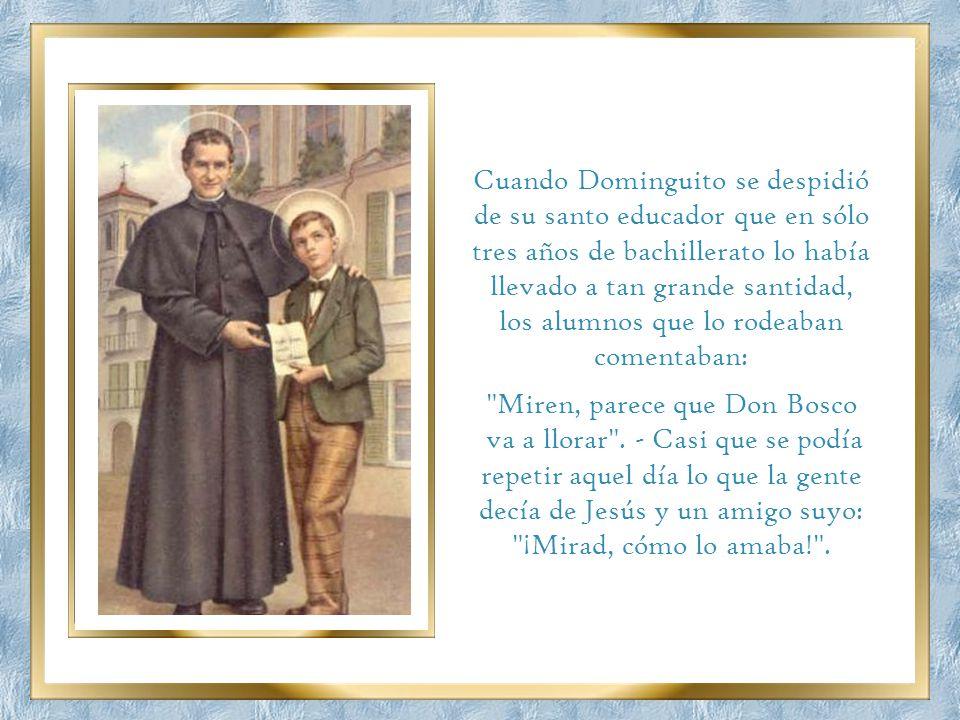 Cada mes, en el Retiro Mensual se rezaba un Padrenuestro por aquel que habría de morir primero. Domingo les dijo: