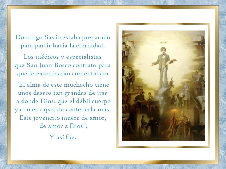 Cuando Dominguito se despidió de su santo educador que en sólo tres años de bachillerato lo había llevado a tan grande santidad, los alumnos que lo ro