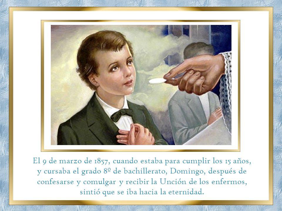 Domingo Savio estaba preparado para partir hacia la eternidad. Los médicos y especialistas que San Juan Bosco contrató para que lo examinaran comentab