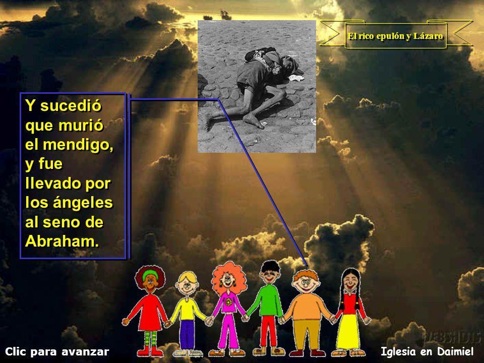 El rico epulón y Lázaro Clic para avanzar Iglesia en Daimiel
