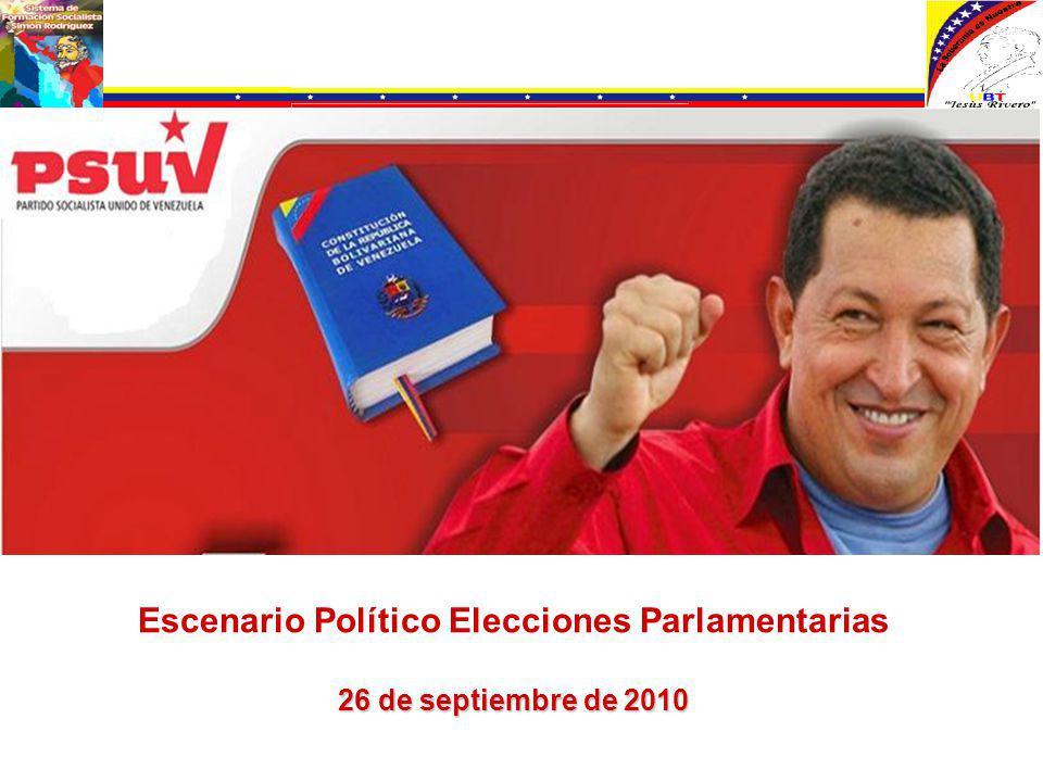 Escenario Político Elecciones Parlamentarias 26 de septiembre de 2010