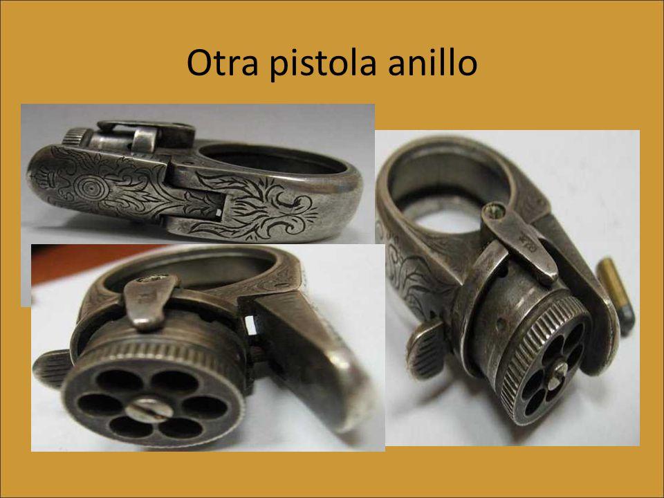 El Anillo Pistola mujer fatal Calibre.06.También en Inglaterra, en 1870.