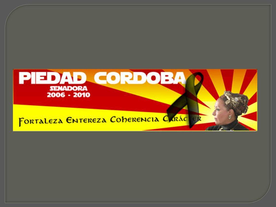 Senadora por el partido Liberal Colombiano.Clave en el proyecto expansionista de Hugo Chávez.