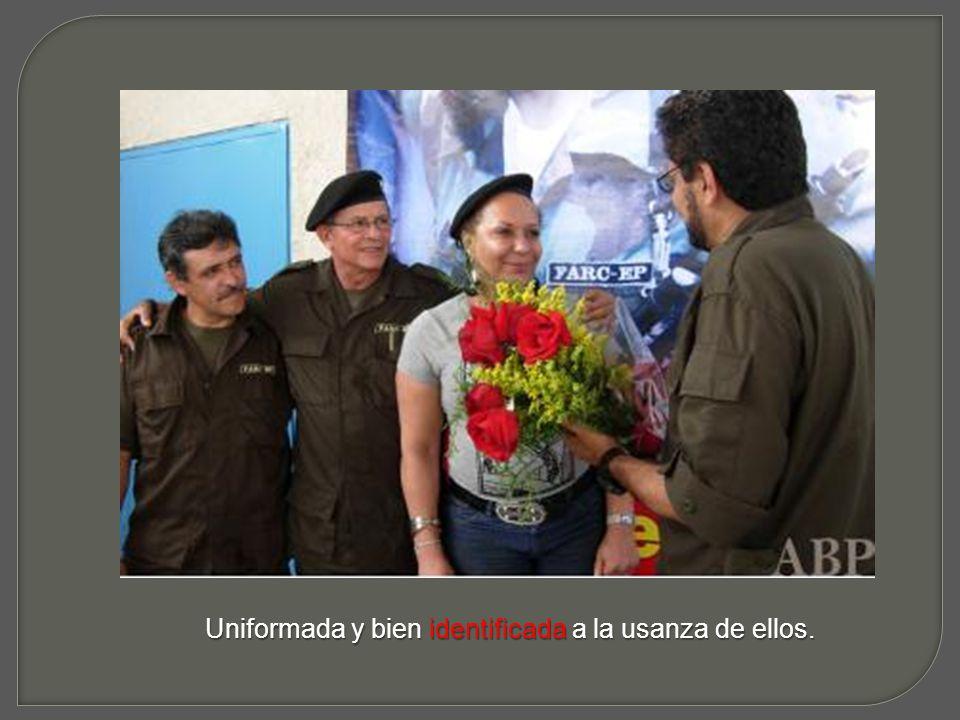 Fotografías que muestran el compromiso de la senadora con el grupo terrorista de la Farc.