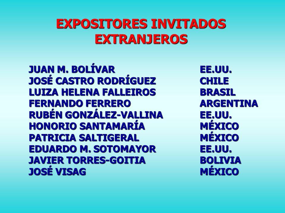 EXPOSITORES INVITADOS EXTRANJEROS JUAN M.BOLÍVAREE.UU.