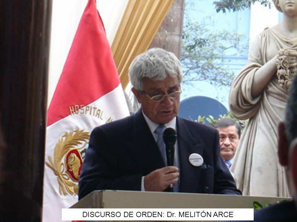 DISCURSO DE ORDEN: Dr. MELITÓN ARCE