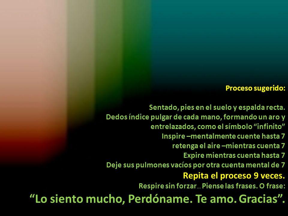 El Ho'ponopono debe ser permanente… es decir mentalmente estas frases, antes y durante todo lo que se hace y en todo lugar.
