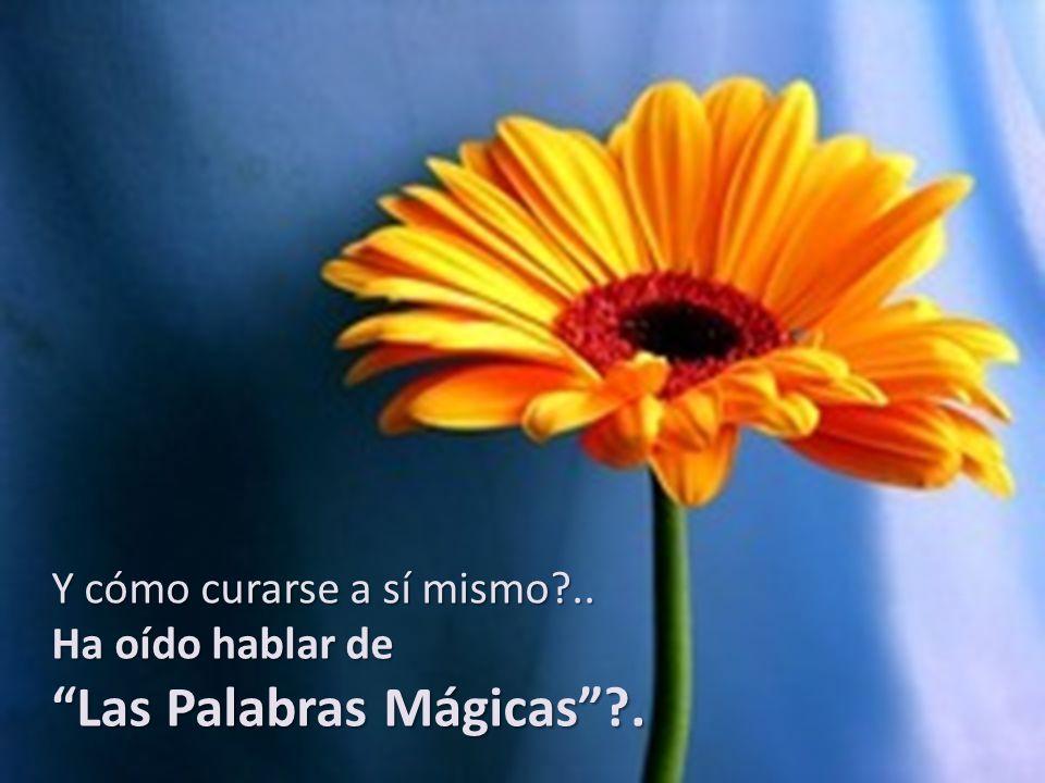 Y cómo curarse a sí mismo?.. Ha oído hablar de Las Palabras Mágicas?.