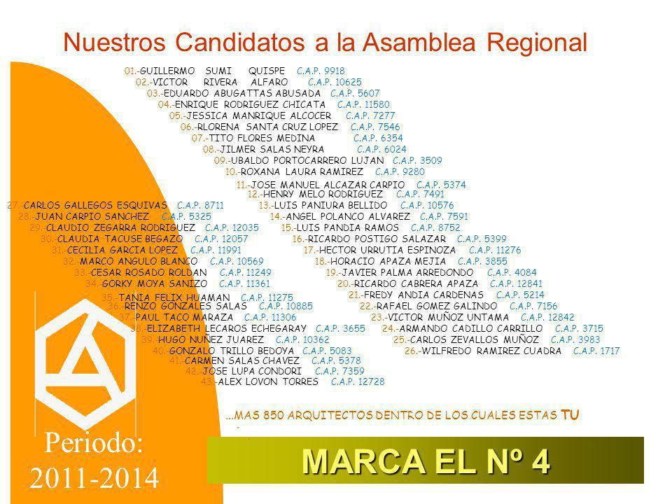 Nuestros Candidatos a la Asamblea Nacional 4 01.-ARMANDO CADILLO CARRILLO C.A.P.