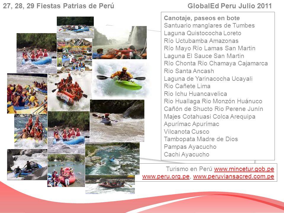 Turismo en Perú www.mincetur.gob.pe www.peru.org.pe, www.peruviansacred.com.pewww.mincetur.gob.pe www.peru.org.pewww.peruviansacred.com.pe Canotaje, p