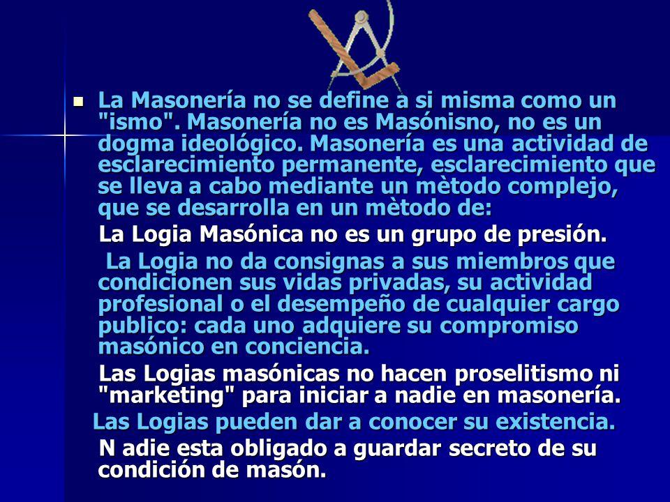 La Masonería no se define a si misma como un