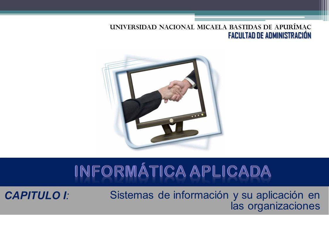 CAPITULO I: Sistemas de información y su aplicación en las organizaciones UNIVERSIDAD NACIONAL Micaela bastidas de Apurímac FACULTAD DE ADMINISTRACIÓN