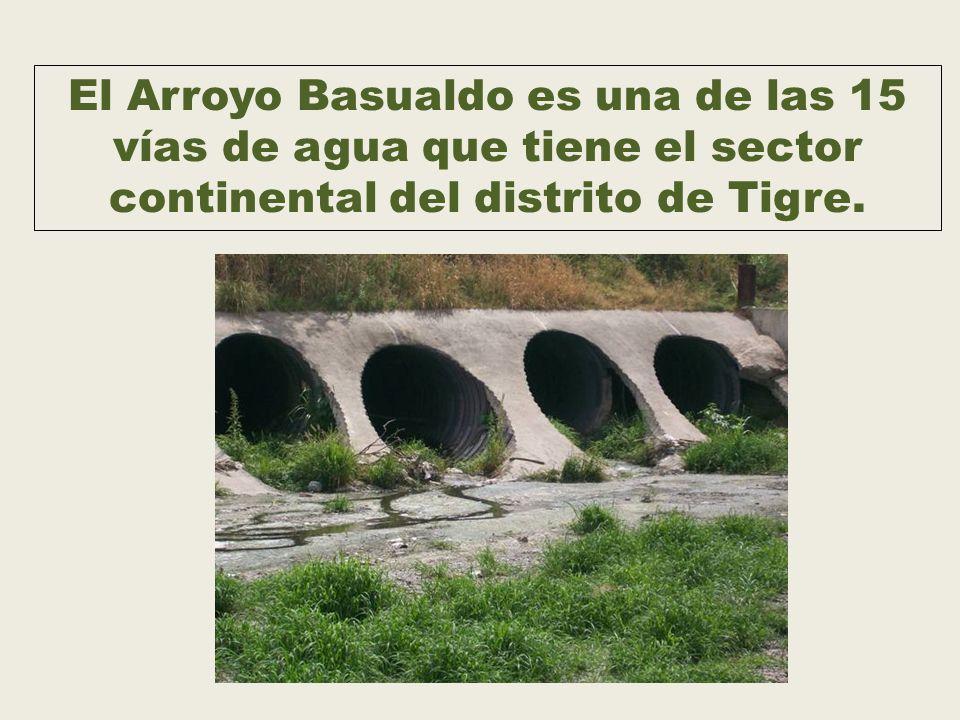 El Arroyo Basualdo es una de las 15 vías de agua que tiene el sector continental del distrito de Tigre.